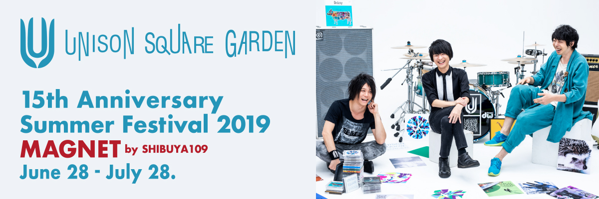 UNISON SQUARE GARDEN × TOWER RECOREDS  POP UP STORE